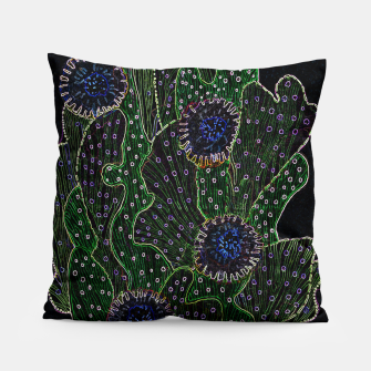 Thumbnail image of Blooming Cactus, Black & Neon Pillow, Live Heroes