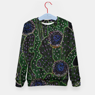 Blooming Cactus, Black & Neon Kid's sweater thumbnail image