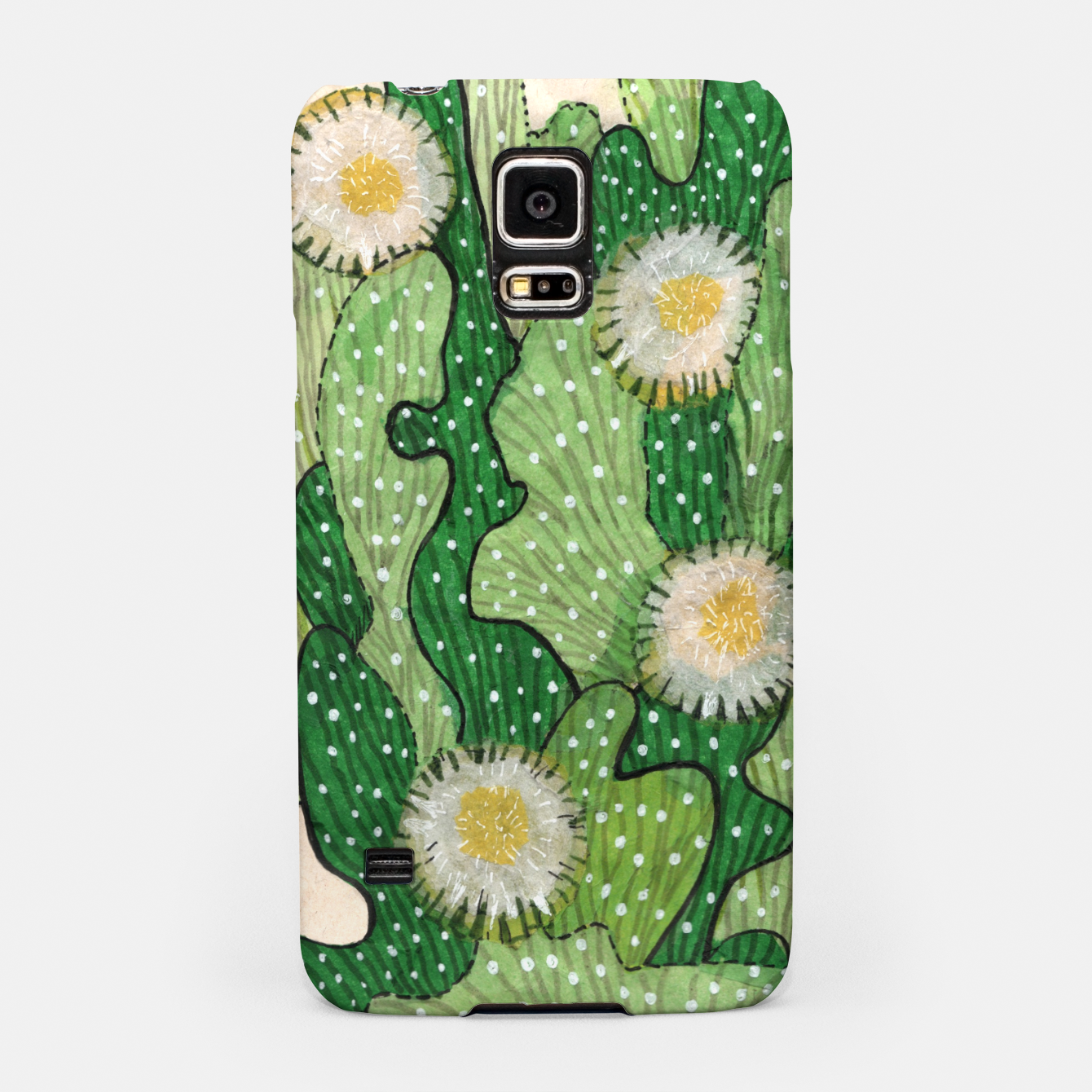 Image of Blooming Cactus, Green, White & Beige Samsung Case - Live Heroes