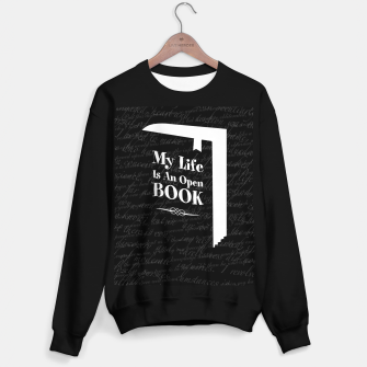 Thumbnail image of My Life Is An Open Book Sweater regular, Live Heroes