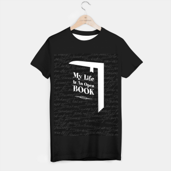 Thumbnail image of My Life Is An Open Book T-shirt regular, Live Heroes
