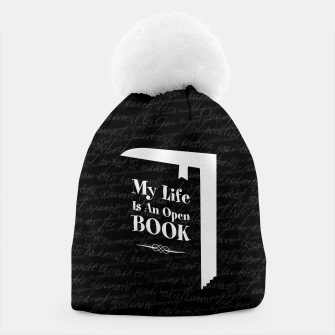 Thumbnail image of My Life Is An Open Book Beanie, Live Heroes
