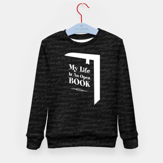 Thumbnail image of My Life Is An Open Book Kid's sweater, Live Heroes