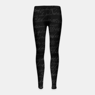 Thumbnail image of My Life Is An Open Book Girl's leggings, Live Heroes