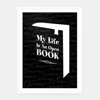 Thumbnail image of My Life Is An Open Book Framed poster, Live Heroes