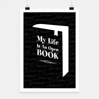 Thumbnail image of My Life Is An Open Book Poster, Live Heroes