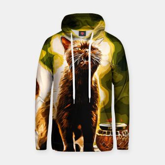 Thumbnail image of gxp british shorthair cat ready to attack vector art Cotton hoodie, Live Heroes