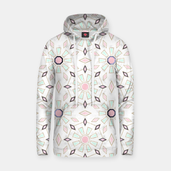 Thumbnail image of Modern gold Moroccan geometric flower marble image  Cotton hoodie, Live Heroes