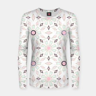 Thumbnail image of Modern gold Moroccan geometric flower marble image  Woman cotton sweater, Live Heroes
