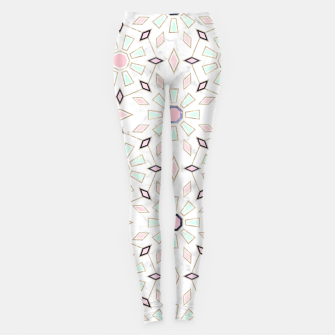 Thumbnail image of Modern gold Moroccan geometric flower marble image  Leggings, Live Heroes