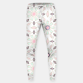 Thumbnail image of Modern gold Moroccan geometric flower marble image  Cotton sweatpants, Live Heroes