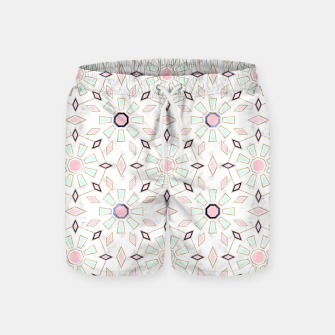 Thumbnail image of Modern gold Moroccan geometric flower marble image  Swim Shorts, Live Heroes