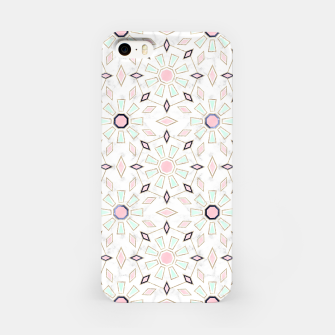 Thumbnail image of Modern gold Moroccan geometric flower marble image  iPhone Case, Live Heroes