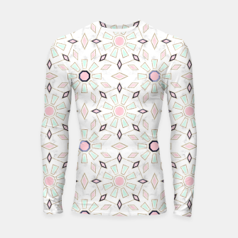 Thumbnail image of Modern gold Moroccan geometric flower marble image  Longsleeve rashguard , Live Heroes