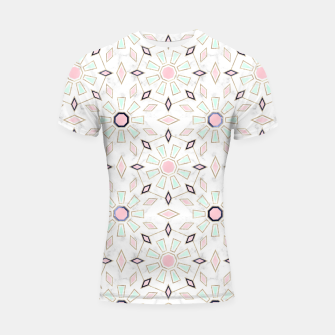 Thumbnail image of Modern gold Moroccan geometric flower marble image  Shortsleeve rashguard, Live Heroes