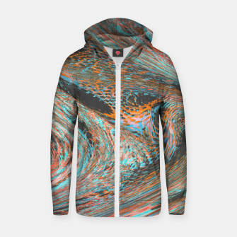 Thumbnail image of 3D Cotton zip up hoodie, Live Heroes