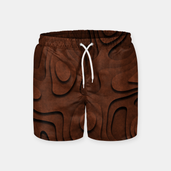 Thumbnail image of Layered Rusty Red Swim Shorts, Live Heroes