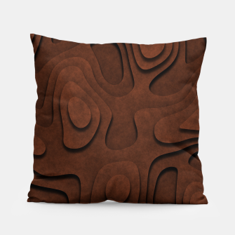 Thumbnail image of Layered Rusty Red Pillow, Live Heroes
