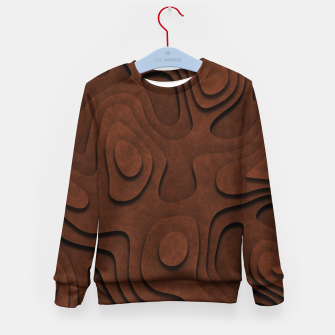 Thumbnail image of Layered Rusty Red Kid's sweater, Live Heroes