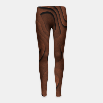 Thumbnail image of Layered Rusty Red Girl's leggings, Live Heroes