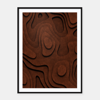 Thumbnail image of Layered Rusty Red Framed poster, Live Heroes