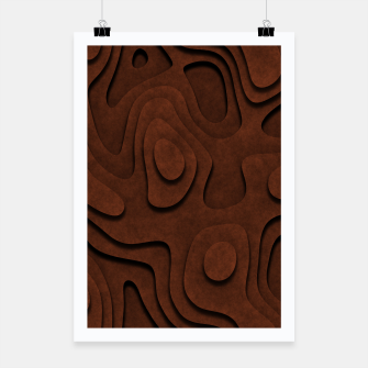 Thumbnail image of Layered Rusty Red Poster, Live Heroes