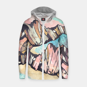 Thumbnail image of Solitary Beach Cotton zip up hoodie, Live Heroes