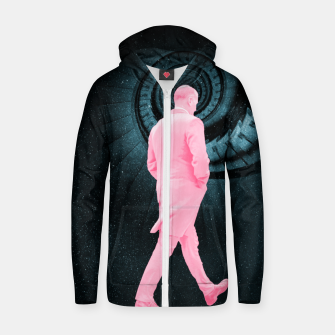 Thumbnail image of Through Space & Time Cotton zip up hoodie, Live Heroes