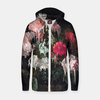 Thumbnail image of Floral Melt Cotton zip up hoodie, Live Heroes