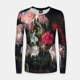Miniatur Floral Melt Woman cotton sweater, Live Heroes