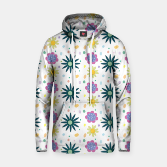 Thumbnail image of Hand drawn floral pattern Sudadera con capucha de algodón, Live Heroes