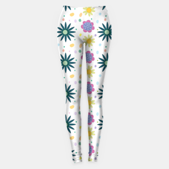 Thumbnail image of Hand drawn floral pattern Leggings, Live Heroes