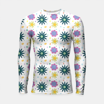 Thumbnail image of Hand drawn floral pattern Longsleeve rashguard, Live Heroes