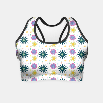 Thumbnail image of Hand drawn floral pattern Crop Top, Live Heroes