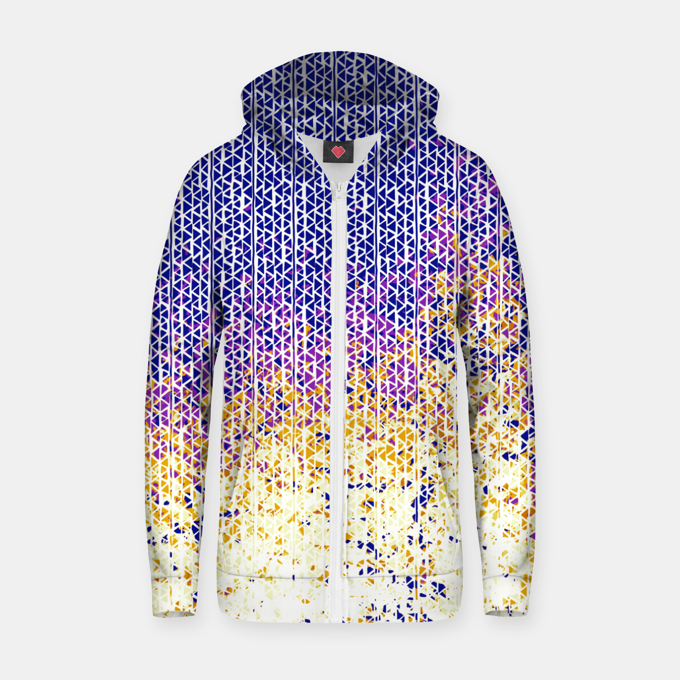 Image of fire Cotton zip up hoodie - Live Heroes
