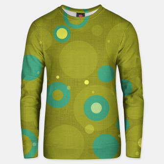 "Miniaturka ""Retro Dots Colorful Olive and Teal"" Sudadera de algodón, Live Heroes"