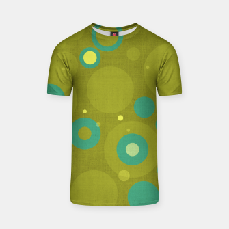 "Imagen en miniatura de ""Retro Dots Colorful Olive and Teal"" Camiseta, Live Heroes"