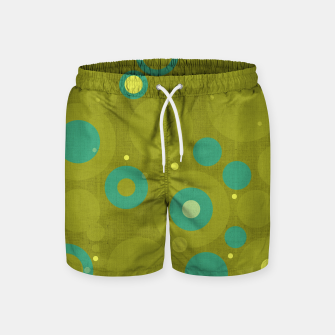 "Miniaturka ""Retro Dots Colorful Olive and Teal"" Pantalones de baño, Live Heroes"