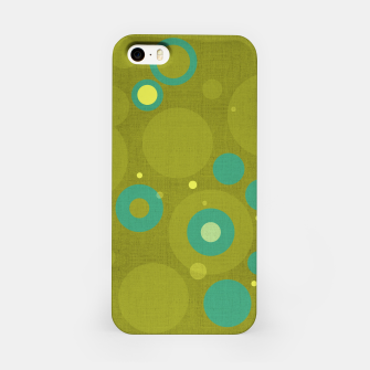 "Miniaturka ""Retro Dots Colorful Olive and Teal"" Carcasa por Iphone, Live Heroes"