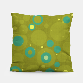 "Miniaturka ""Retro Dots Colorful Olive and Teal"" Almohada, Live Heroes"