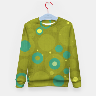 "Miniaturka ""Retro Dots Colorful Olive and Teal"" Sudadera para niños, Live Heroes"