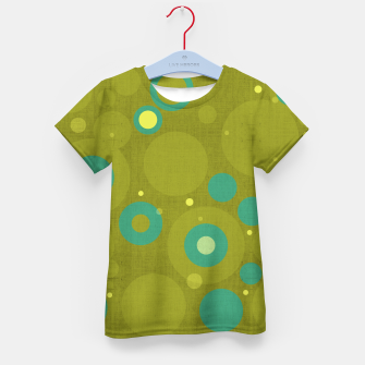 "Miniaturka ""Retro Dots Colorful Olive and Teal"" Camiseta para niños, Live Heroes"