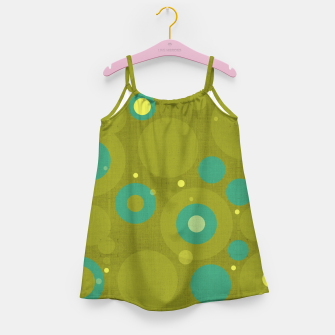 "Miniaturka ""Retro Dots Colorful Olive and Teal"" Vestido para niñas, Live Heroes"