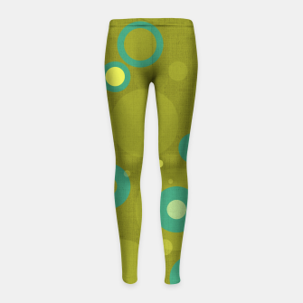 "Miniaturka ""Retro Dots Colorful Olive and Teal"" Leggings para niña, Live Heroes"