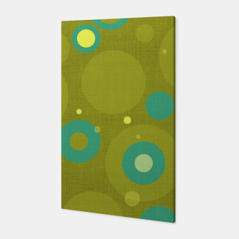 "Miniaturka ""Retro Dots Colorful Olive and Teal"" Canvas, Live Heroes"