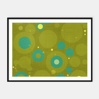 "Miniaturka ""Retro Dots Colorful Olive and Teal"" Cartel con marco, Live Heroes"