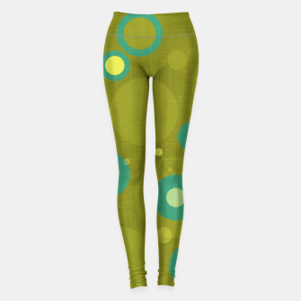 "Imagen en miniatura de ""Retro Dots Colorful Olive and Teal"" Leggings, Live Heroes"
