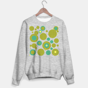 "Imagen en miniatura de ""Retro Dots Colorful Olive and Teal 02"" Sudadera regular, Live Heroes"