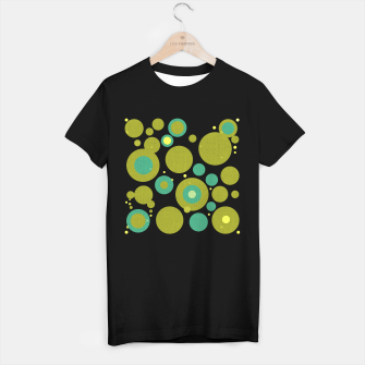 "Imagen en miniatura de ""Retro Dots Colorful Olive and Teal 02"" Camiseta Regular, Live Heroes"