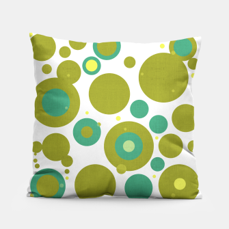 "Imagen en miniatura de ""Retro Dots Colorful Olive and Teal 02"" Almohada, Live Heroes"